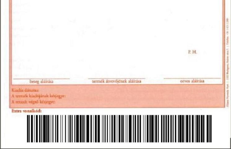 Érdekesség: A receptek alján lévő 2009. május 1-től érvényes extra vonalkód adattartalma