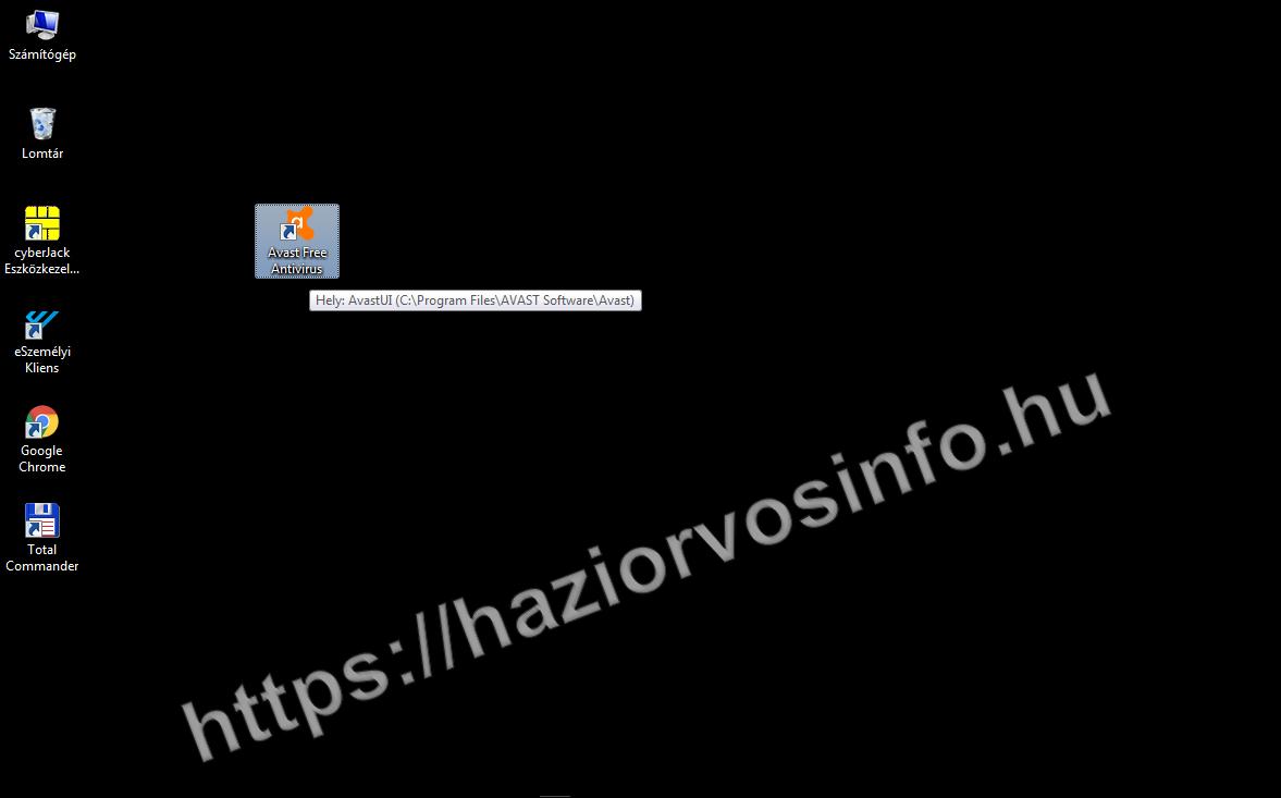 Az ESzemélyi Kliens engedélyezése Avast víruskeresőben