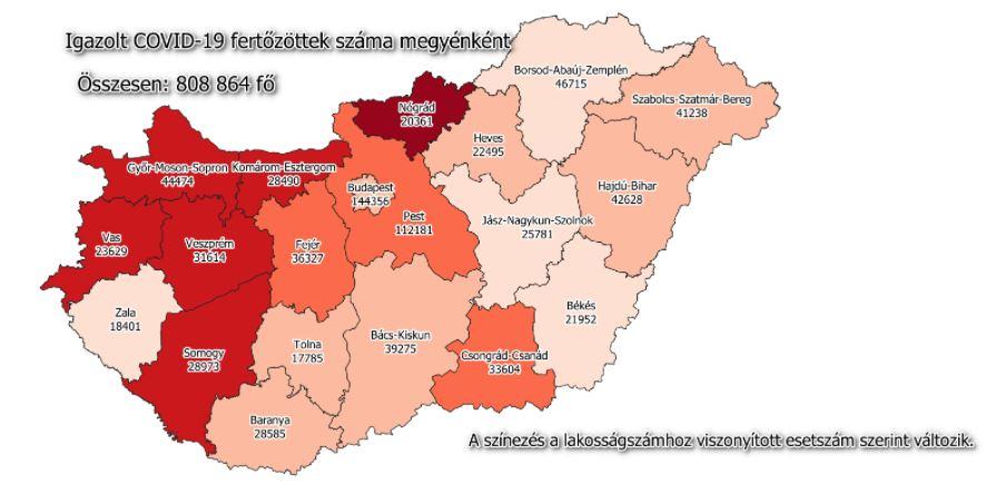2021.07.19. hétfői koronavírus adatok